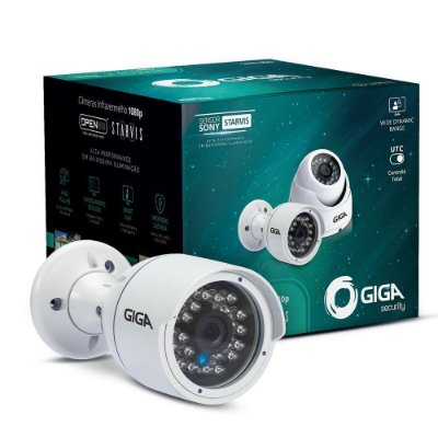 Câmera Giga GS0052 Bullet Open HD Sony Starvis IR WDR 30M 4MM IP66 Full HD (2.0MP | 1080P | 2.8mm | Metal)