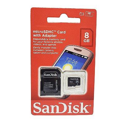 Cartão de Memória Micro SD 8GB Sandisk
