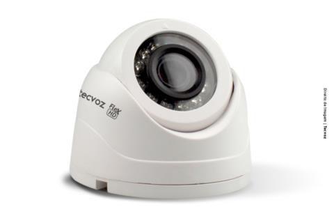 Câmera Tecvoz Mini Dome Flex HD CDM - 128MP Alta Definição