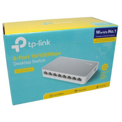Switch de Rede TP-Link com 8 Portas 10/100Mbps - TI-SF1008D