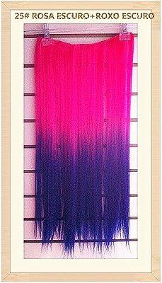 Black-Aplique Pink com Roxo  60cm