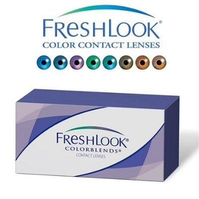 Freshlook Colorblends Sem Grau Colorida Gelatinosa
