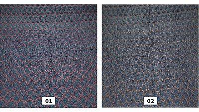 Jeans Matelassê Coração. 50 x 140cm