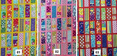 Colorful Squares. Tecido Japonês. TI034- 50cm x 55cm