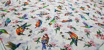 Flowery Little Birds. TN086.  50cm x 70cm