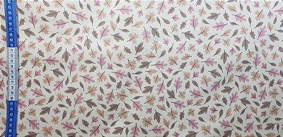 Floral em Cambraia de Alg.+Linho. TN109-50x140cm