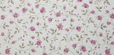 Floral em Algodão+Linho Nacional. TN112-50x140cm