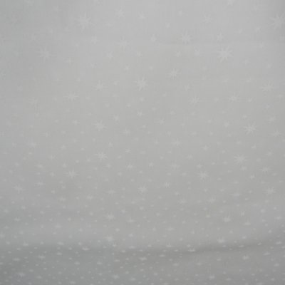 Tecido Branco Estampado Estrela. TN0116. 50cm x 140cm