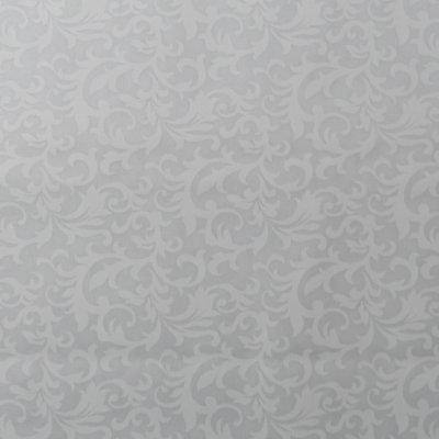 Tecido Branco Estampado Folhas. TN0118. 50cm x 140cm