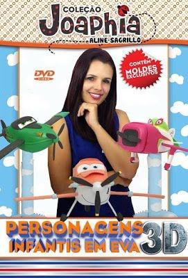 DVD PERSONAGENS INFANTIS EM E.V.A. 3D - AVIÕES