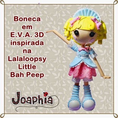 CURSO VIRTUAL LALALOOPSY LITTLE BAH EM E.V.A. 3D