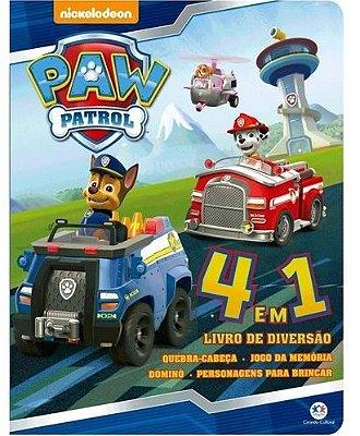 Livro 4 em 1 Paw Patrol