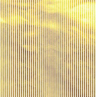 Folha de Scrapbook Listrada Dourada