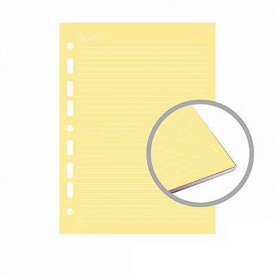 Refil Fichário Colegial 160x240 Pautado Colorido