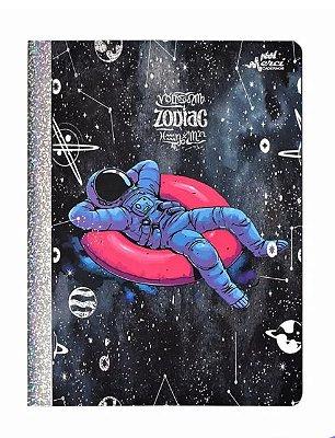 Caderno Brochura Pautado Zodiac Astronauta