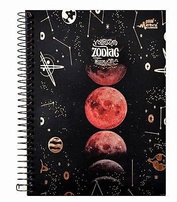 Caderno Colegial Espiral Zodiac Fases da Lua