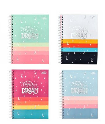Caderno Colegial Espiral Dream