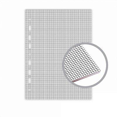 Refil Fichário Universal 20x27,5 Quadriculado