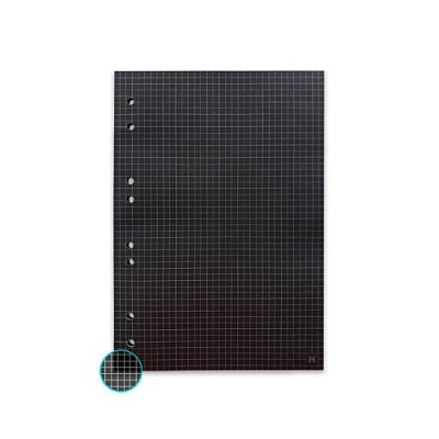 Refil Fichário Universal Preto 20x27,5 Quadriculado