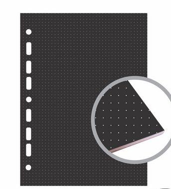 Refil Fichário Universal Preto 20x27,5 Pontilhado