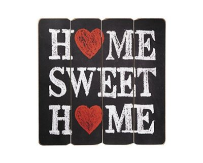 Placa Decorativa de Madeira - Home Sweet Home