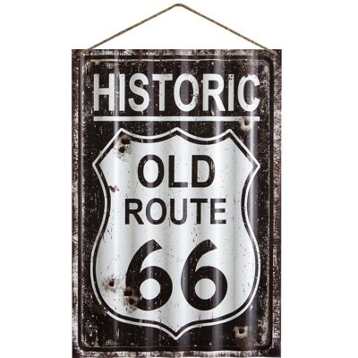 Placa de Metal - Historic Old Route 66