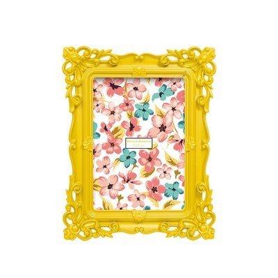 Porta-Retrato Retrô 13x18cm Amarelo