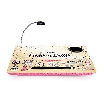 Bandeja Para Notebook com Led Fashion Blog