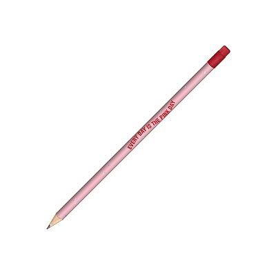 Lápis Preto Redondo com Borracha Love Pink