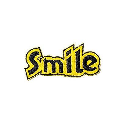 Patch Smile Preto e Amarelo