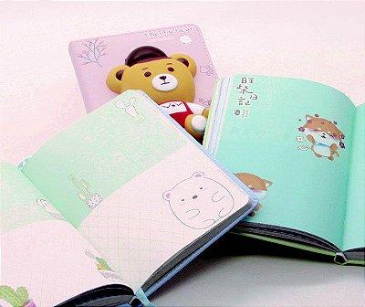 Caderno Brochura Pequeno - com Squishy Urso