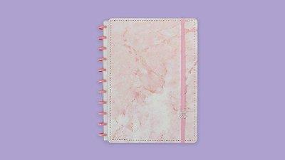 Caderno Inteligente Pink Marble Grande