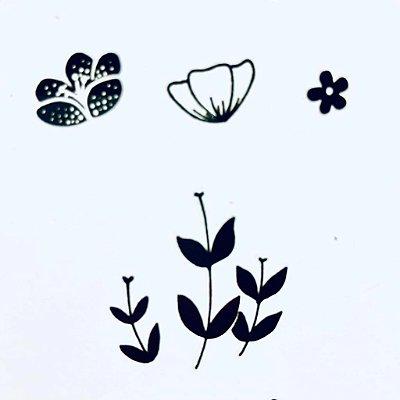 Carimbo Mini Florzinhas