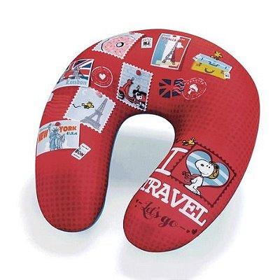 Almofada de Pescoço Massageadora Snoopy I Love Travel