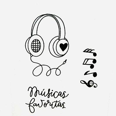 Carimbo Mini Música