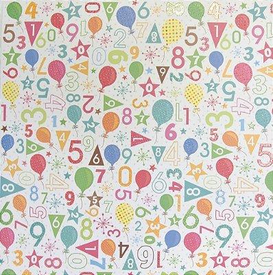 Folha de Scrapbook - Aniversário