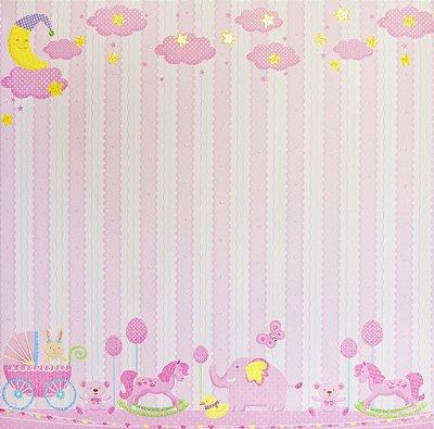 Folha de Scrapbook  Tema Bebês - Céu e Animais