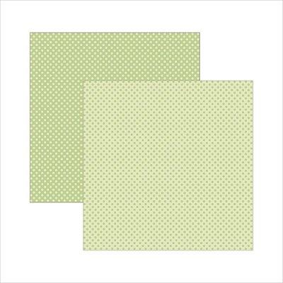 Folha de Scrapbook Poá Grande - Verde Bebê