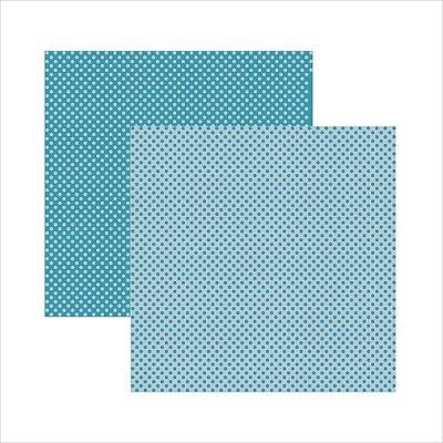 Folha de Scrapbook Poá Grande - Verde Azulado