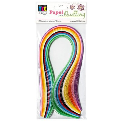 Papel para Quilling - Colorido