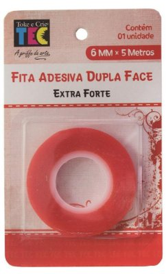 Fita Adesiva Dupla Face - Extra Forte 6mm x 5m