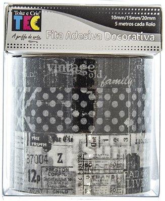 Conjunto Fita Adesiva Washi Tape Memórias