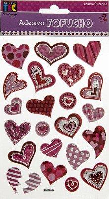 Adesivo Fofucho Corações