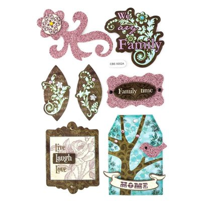 Adesivo Decorativo Vintage - Família