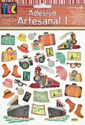 Adesivo Artesanal - Viagem