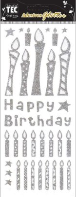Adesivo Glitter - Feliz Aniversário