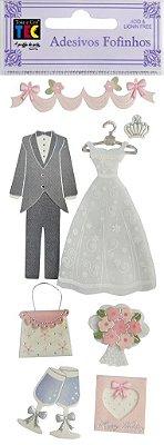 Adesivo Fofinho - Casamento