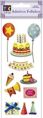 Adesivo Fofinho - Feliz Aniversário