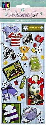 Adesivo 24 x 11 cm 3D - Futebol