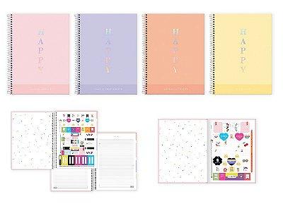 Caderno Universitário Happy 80 Folhas